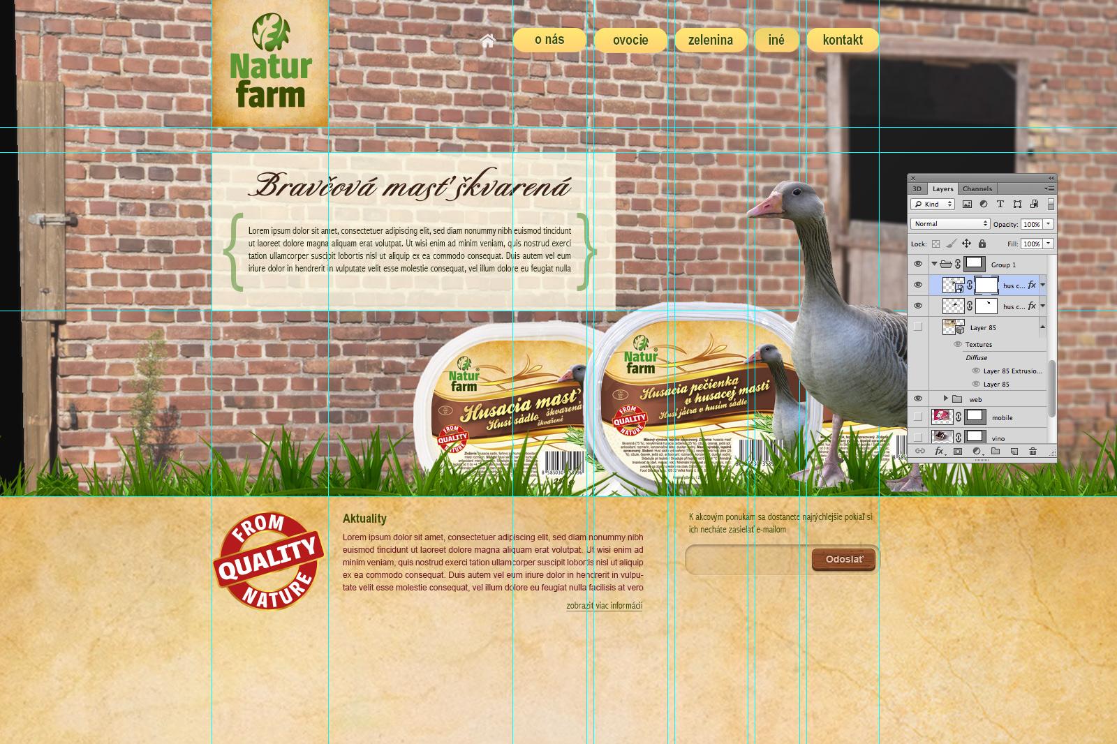 Produktové etikety Naturfarm