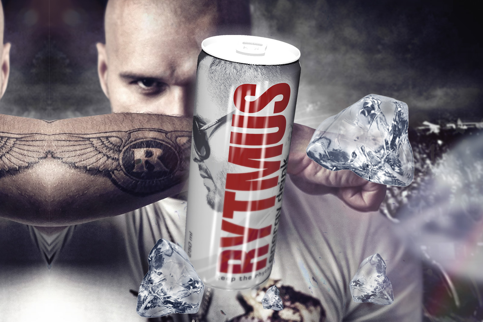 Design RYTMUS energy drink